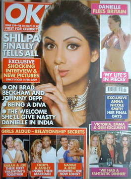 <!--2007-02-20-->OK! magazine - Shilpa Shetty cover (20 February 2007 - Iss