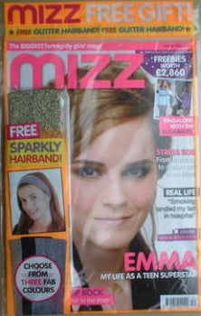 MIZZ magazine - Emma Watson cover (23 December 2008-7 January 2009)