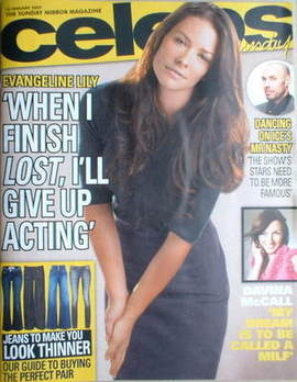 <!--2009-01-18-->Celebs magazine - Evangeline Lily cover (18 January 2009)
