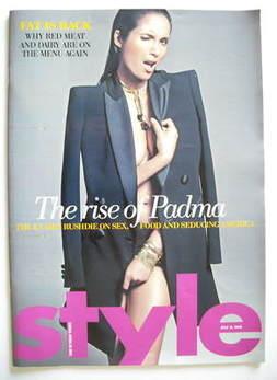 Style magazine - Padma Lakshmi cover (12 July 2009)