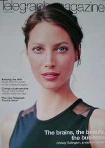 <!--2003-03-08-->Telegraph magazine - Christy Turlington cover (8 March 200