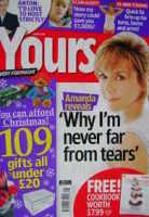 <!--2008-11-04-->Yours magazine - Amanda Burton cover (4-17 November 2008)