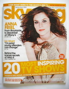Sky TV magazine - September 2009 - Anna Friel cover