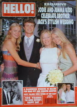 <!--2000-08-15-->Hello! magazine - Jack Kidd wedding cover (15 August 2000
