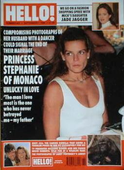 Hello! magazine - Princess Stephanie cover (7 September 1996 - Issue 423)
