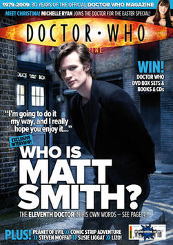 <!--2009-03-04-->Doctor Who magazine - Matt Smith cover (4 March 2009)