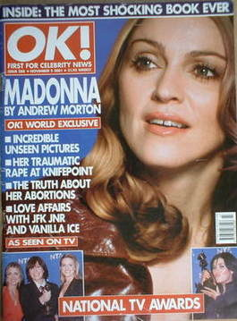 <!--2001-11-02-->OK! magazine - Madonna cover (2 November 2001 - Issue 288)