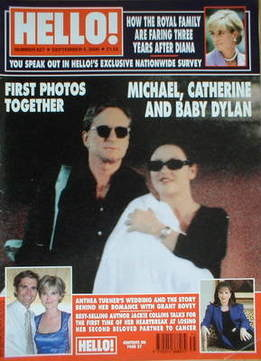 <!--2000-09-05-->Hello! magazine - Michael Douglas and Catherine Zeta Jones