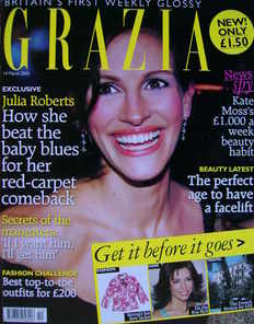 Grazia magazine - Julia Roberts cover (14 March 2005)