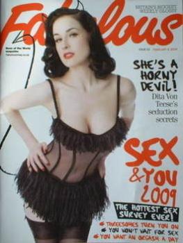 Fabulous magazine - Dita Von Teese cover (8 February 2009)