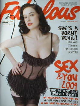 <!--2009-02-08-->Fabulous magazine - Dita Von Teese cover (8 February 2009)