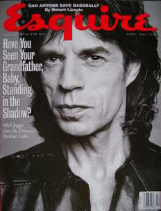 Esquire magazine - Mick Jagger cover (April 1993 - US Edition)