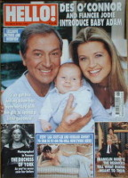 <!--2004-11-23-->Hello! magazine - Des O'Connor and Jodie Brooke Wilson and baby Adam cover (23 November 2004 - Issue 843)