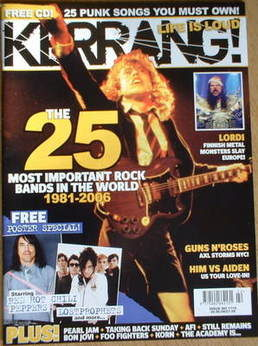 <!--2006-06-06-->Kerrang magazine - The 25 Most Important Rock Bands In The