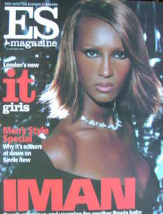 <!--2002-09-27-->Evening Standard magazine - Iman cover (27 September 2002)