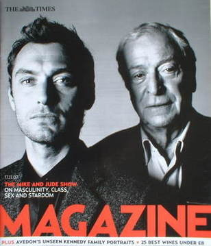 <!--2007-11-17-->The Times magazine - Jude Law and Michael Caine cover (17