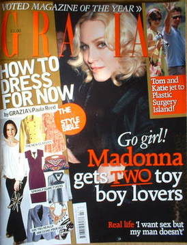 <!--2009-02-16-->Grazia magazine - Madonna cover (16 February 2009)