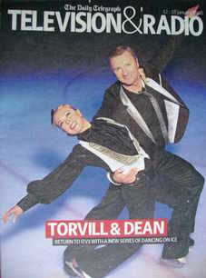 Television&Radio magazine - Jayne Torvill and Christopher Dean cover (12 Ja