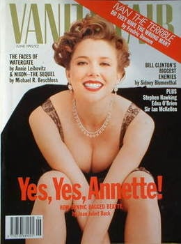 Vanity Fair magazine - Annette Bening cover (June 1992)