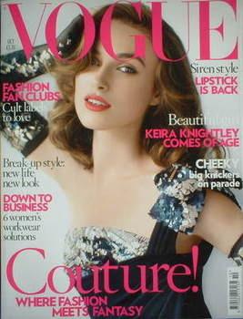 <!--2007-10-->British Vogue magazine - October 2007 - Keira Knightley cover