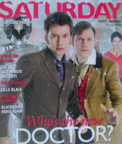 <!--2008-12-20-->Saturday magazine - David Tennant and David Morrissey cove