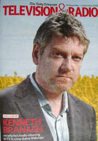 Television&Radio magazine - Kenneth Branagh cover (29 November 2008)