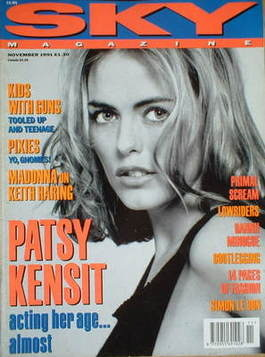 <!--1991-11-->Sky magazine - Patsy Kensit cover (November 1991)