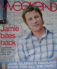 <!--2007-09-22-->Weekend magazine - Jamie Oliver cover (22 September 2007)