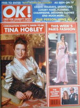 OK! magazine - Tina Hobley cover (30 January 1998 - Issue 95)