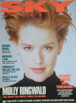 Sky magazine - Molly Ringwald cover (October 1989)