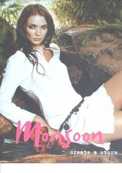 Monsoon brochure - Jodie Kidd cover