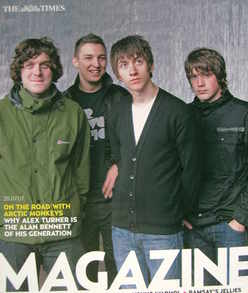 <!--2007-07-28-->The Times magazine - Arctic Monkeys cover (28 July 2007)