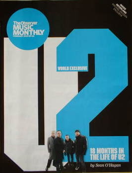 The Observer Music Monthly magazine - February 2009 - U2 cover