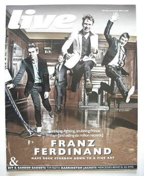 <!--2009-04-12-->Live magazine - Franz Ferdinand cover (12 April 2009)