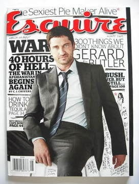 <!--2009-08-->Esquire magazine - Gerard Butler cover (August 2009 - US Edit