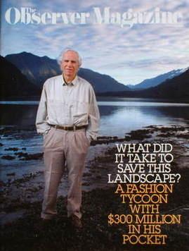 <!--2009-02-15-->The Observer magazine - Douglas Tompkins cover (15 Februar