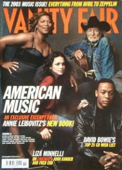 Vanity Fair magazine - American Music cover (November 2003)
