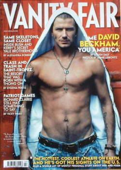 Vanity Fair magazine - David Beckham cover (July 2004)
