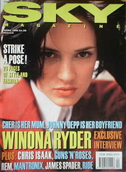 <!--1991-04-->Sky magazine - Winona Ryder cover (April 1991)