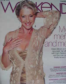 <!--2007-09-08-->Weekend magazine - Helen Mirren cover (8 September 2007)