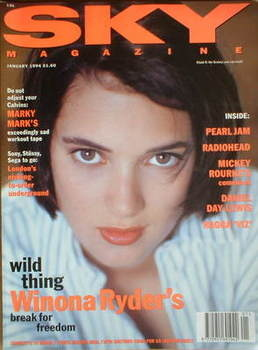 <!--1994-01-->Sky magazine - Winona Ryder cover (January 1994)