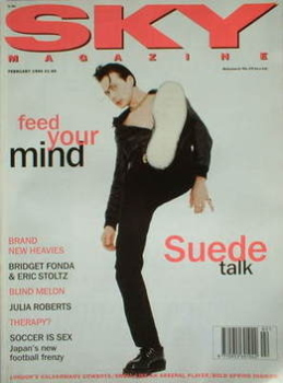 Sky magazine - Suede cover (February 1994)