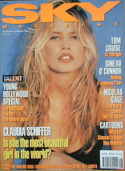 <!--1990-08-->Sky magazine - Claudia Schiffer cover (August 1990)
