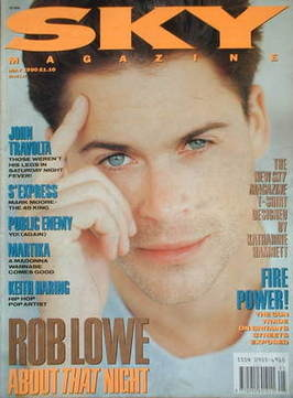 <!--1990-05-->Sky magazine - Rob Lowe cover (May 1990)