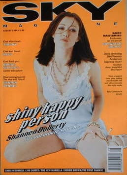<!--1995-08-->Sky magazine - Shannen Doherty cover (August 1995)
