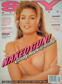 Sky magazine - Cindy Crawford cover (September 1995)