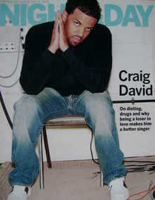 Night & Day magazine - Craig David cover (31 July 2005)