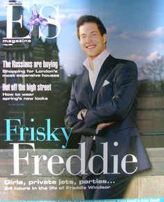 <!--2004-05-07-->Evening Standard magazine - Freddie Windsor cover (7 May 2004)