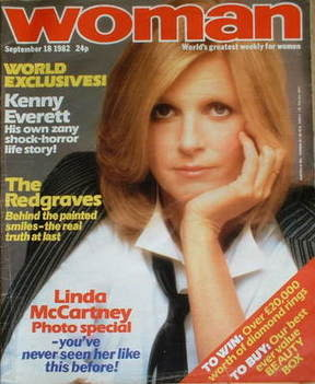 <!--1982-09-18-->Woman magazine - Linda McCartney cover (18 September 1982)