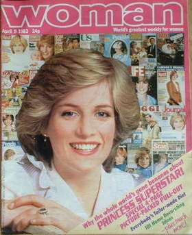 <!--1983-04-09-->Woman magazine - Princess Diana cover (9 April 1983)